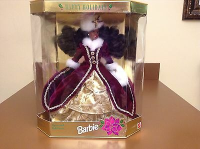 1996 Happy Holidays Special Edition Barbie African American New in Box VINTAGE