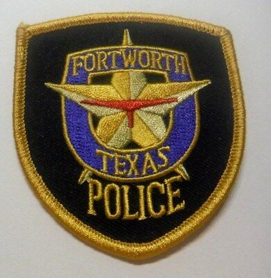 Fort Worth Texas Police Vest Hat Patch Unused