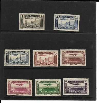 Syria Sg322/29 Air Mail 1937 Issue  Mint N/h In Pristine Condition.