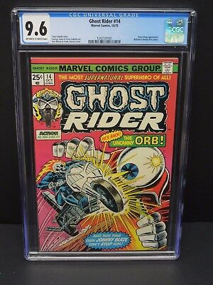 Marvel Comics Ghost Rider #14 1975 Cgc 9.6 Karen Page Appearance Uncanny Orb