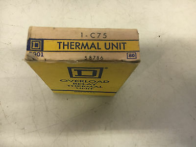 Square D C75 New In Box Thermal Overload Heater See Pictures #b46