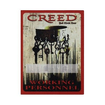 Creed authentic Working 2010 tour Backstage Pass