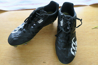 Canterbury black rugby boots excellent condition size 8 (42)