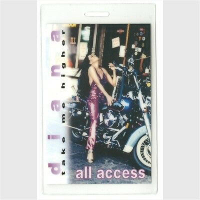 Diana Ross authentic 1995 concert Laminated Backstage Pass Take Me Higher Tour