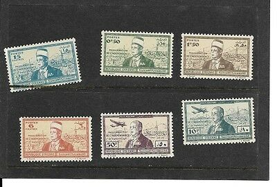 SYRIA - 1942 INDEPENDENCE ISSUE (sg358/63) MINT N/H IN PRISTINE CONDITION.
