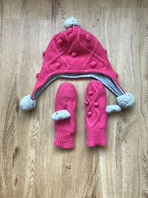 Mini Boden hat and scarf set childs