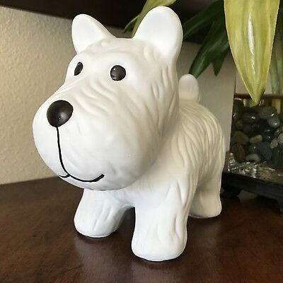 "West Highland Terrier Statue Westie White Figurine 8.5""  Dog Puppy Home Decor"