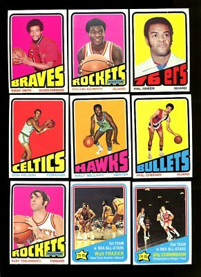 1972 Topps Basketball Star & Rookie Lot Of 13 Different Nmmt *69153