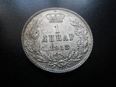Serbia 1915  Dinar (gVF)    Coin Alignment