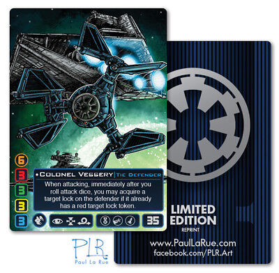Colonel Vessery FFG X-wing Miniatures custom game PLR Alternate Art card