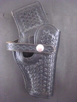 Vintage Smith & Wesson Black Weave  leather Holster...