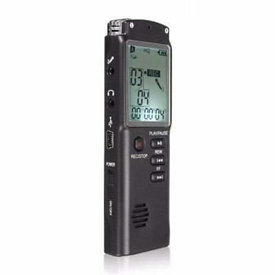 8GB Rechargeable USB LCD Digital SPY Audio Voice Recorder Dictaphone MP3 Pl J4Q9