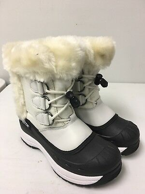 "BAFFIN Women's ""Polar Proven"" White/Black Winter Boots Size 6"