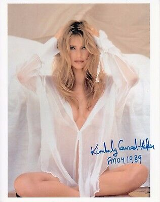 PMOY 89 Playmate Kimberly Conrad-Hefner Autographed 8x10  Promo! White blouse