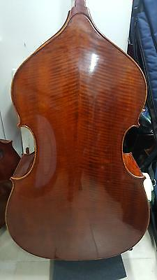 3/4 Double Bass Schoeder 100 solid Spruce Maple wood Hellicore String Video Clip