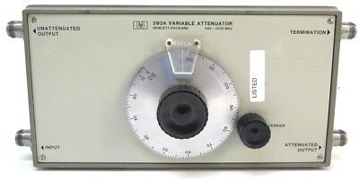 HP 393A Variable Attenuator 500 - 1000MHz