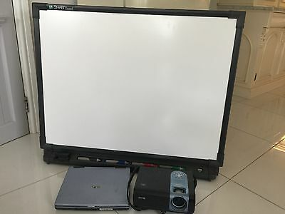 smart board screen/projector and laptop