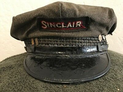 Vintage Sinclair Wool Hat with Sinclair years of service pins