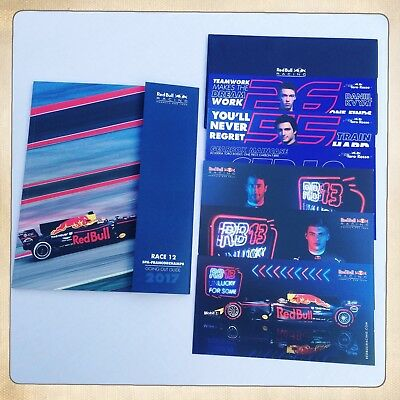 Red Bull/Toro Rosso Formula 1 F1 2017 Promo Programme Postcards Belgium Edition