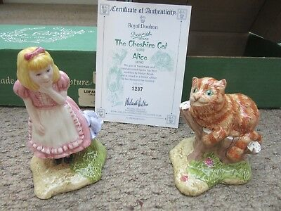 Royal Doulton Beswick Cheshire Cat and Alice in Wonderland Figures Gift Idea MIB