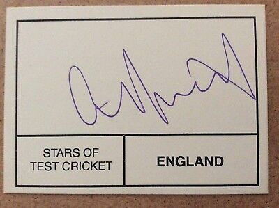 Cricket - Mike Atherton - England - hand signed / autographed card