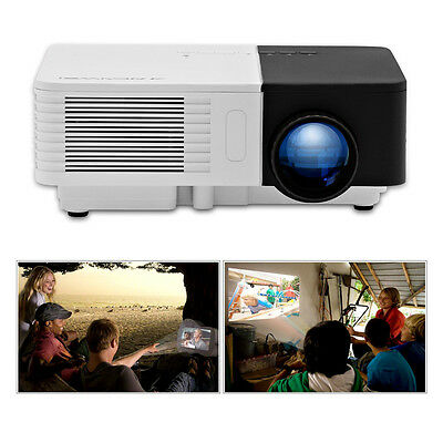 Portable Mini Projector HD Home Cinema TV Movie Xbox Game HDMI USB Kid's Gift UK
