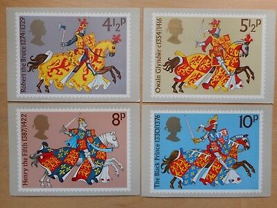 GB 1974 Medieval Warriors set used PHQ cards