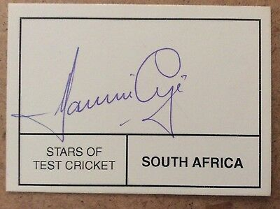 Cricket - Hanse Cronje - South Africa - hand signed / autographed card