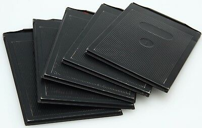 9X12 cm Metal Film Holders, qty 5 - Black, Made in Germany #362852