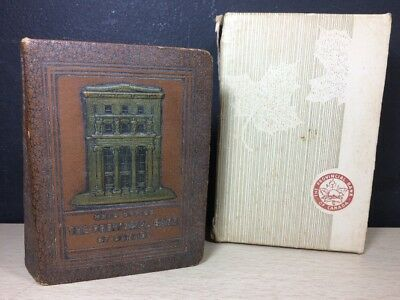 BANKERS UTILITIES BOOK BANK W/ BOX Provincial Bank of Canada Metal Leather