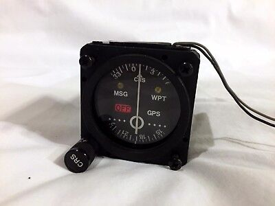 Mid Continent MD40-242L Nav Indicator w/ connectors for Garmin IFR 155/300 GPSs