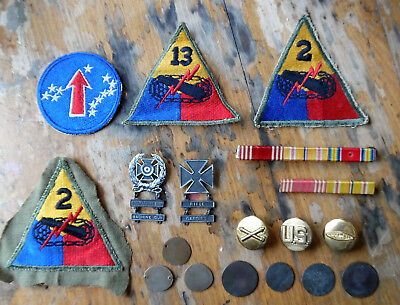Lot of WW1 medals patches hammered coins Misc Sterling Silver .925