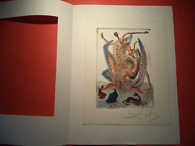 Salvador Dali, Divine Comed,y Rare German Hand Signed Lithograph  (9)