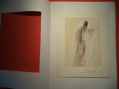 Salvador Dali, Divine Comed,y Rare German Hand Signed Lithograph  (7)