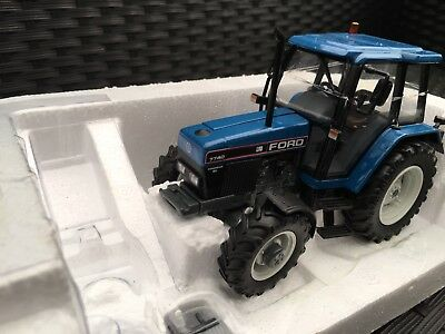 Frater Ford 7740 SL 4wd tractor Blue roof 1:32 scale Classic Farm model