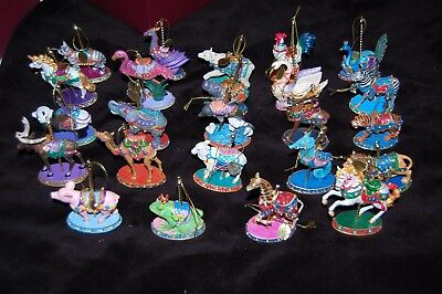 Set of 24~DANBURY MINT~Carnival Carousel Christmas Ornament Collection