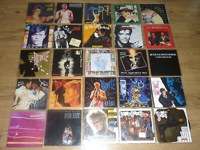 """69 x DAVID BOWIE 7"""" SINGLES - David Bowie Record Collection"""