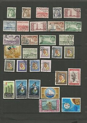 A Collection Of Kuwait Used Stamps 1958-1986 Displayed On Stock Cards.