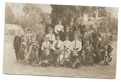 Old Rp Postcard 1936, The Band, Sidcot School, Somerset, Violins, Cellos, Quaker