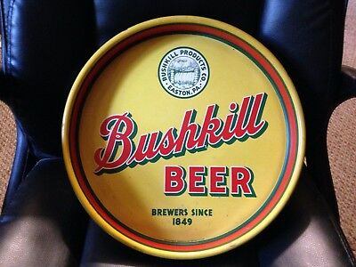 Easton Pa Bushkill  Beer Round 13 Inch Tray Not Porcelain Sign
