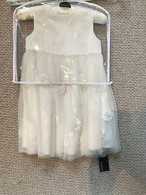 Stunning M&S Girls Christmas/Party/Christening Dress 12-18 Months BNWT