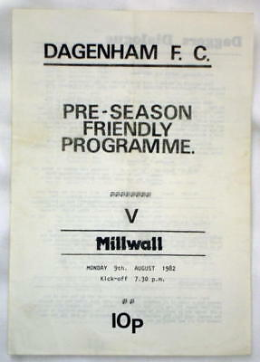 Dagenham v Millwall Friendly 82/83