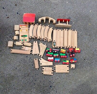 Brio train set. Track and trains.- Huge amount - some peices for other makers.