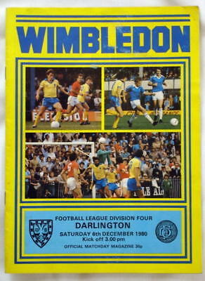 Wimbledon v Darlington 80/81