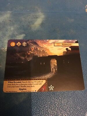 Summons Game Of Thrones Lcg FFG Promo Alt Art Card