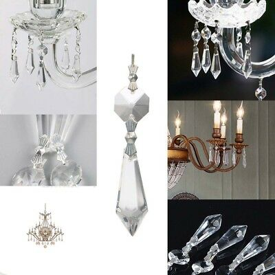 "10PCS 1.5"" Clear Crystal Glass Chandelier Lamp Lighting Drop Hanging Pendants"