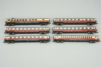 N Scale LOT of 6 Fleischmann TEE Trans Europe Express European Passenger Cars