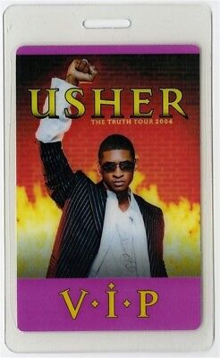 Usher authentic 2004 concert Laminated Backstage Pass Truth Tour VIP *rare*