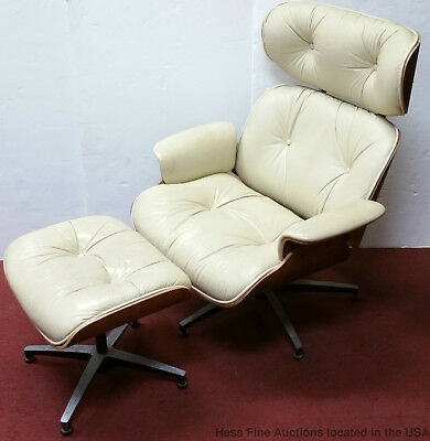 Plycraft Signed After Eames Vintage Herman Miller Style Lounge Chair w Ottoman