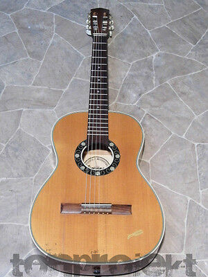 Vintage Jörgensen flat TOP Guitare Acoustique Germany ~1960 Revêtement massif